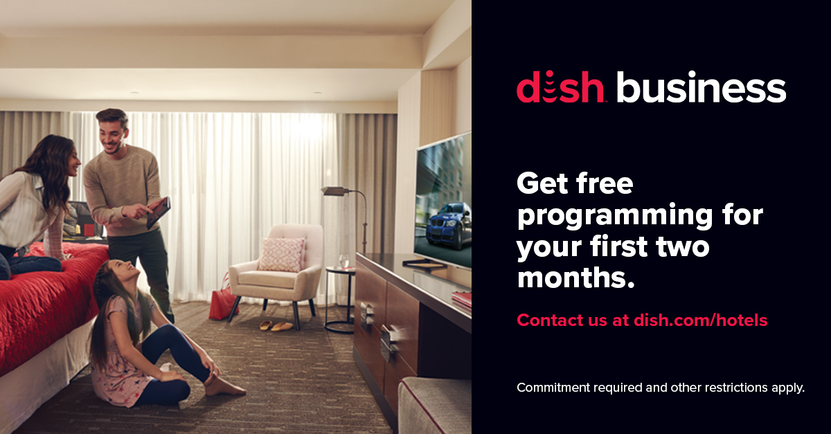 DISH Business Hotels 2 Months Free Offer 1200x628