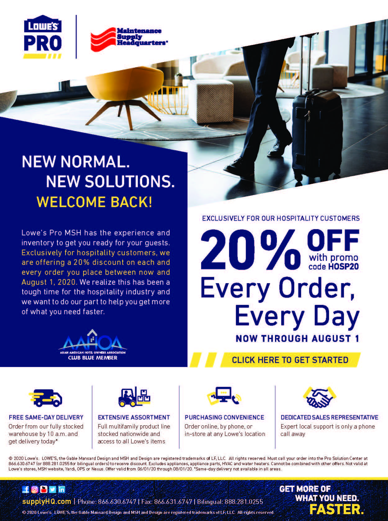 Lowes Hospitality Promotion for AAHOA